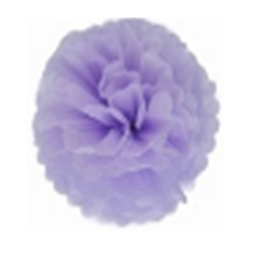 10pcs Tissue Paper Flower Balls Wedding Party Festival ZH-15cm Light purple