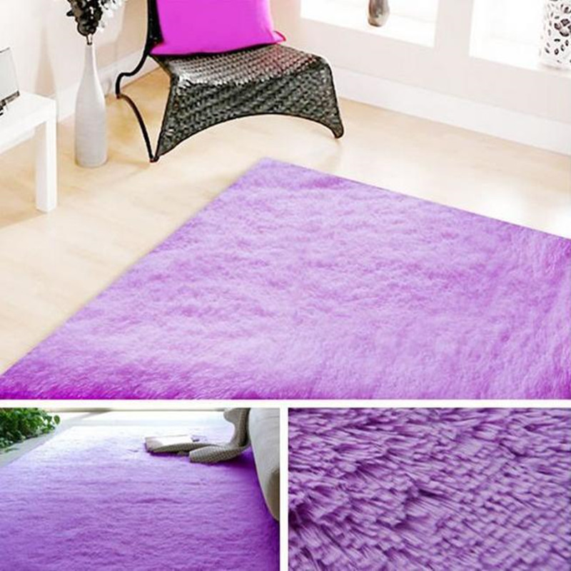 Hot 120x200cm Plush Soft Carpet Floor Rug Kids Rugs 2CM Fur Shaggy Carpets  For Living Room