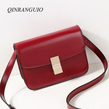 649d90e2df87 QINRANGUIO женские сумки-мессенджеры высокого качества сумки для женщин 2019  маленькая сумка на плечо женские модные сумки через плечо для женщин