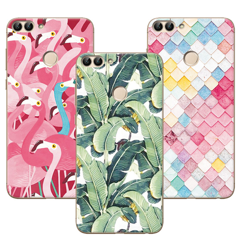 Mermaid Newest Flamingo Cute Painting Case Soft Silicone For Huawei P Smart Fundas Case Cover For Coque Huawei P Smart +Gift ...
