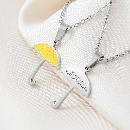 How I Met Your Mother Yellow Umbrella Pendant You re my Yellow Umbrella True Love Necklace