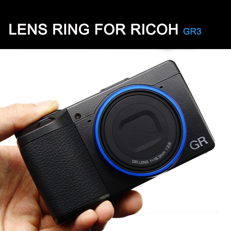 Original Blue Lens Ring for Ricoh GR3 GRIII