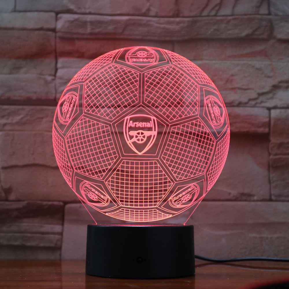 Arsenal FC Lampe optique LED illusion 3D Football Table Lamp Home Bedroom Decorative Mood Lighting Novelty Gifts Drop Shipping рюкзак arsenal football backpack