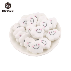 Image 3 - Lets Make 100pcs Siilicone Cloud Beads Safe and Natural Sensory Chewing Toy Interactive Toys DIY Accessories Baby Teether