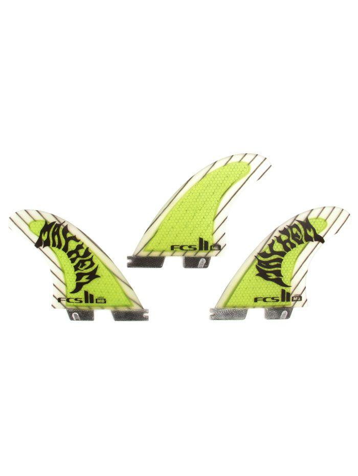 FCS II MB Performance Core Carbon Tri Fin Set SIZE Large