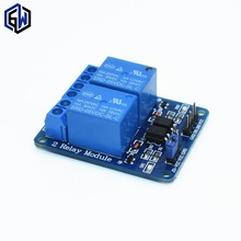 50pcs/lot 2-channel New 2 channel relay module relay expansion board 5V low level triggered 2-way relay module