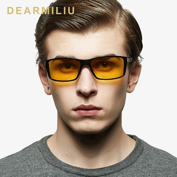 DEARMILIU okulary noktowizyjne aluminium magnezu męskie okulary spolaryzowane kwadratowe lustro męskie okulary akcesoria dla mężczyzn tanie i dobre opinie Z poliwęglanu 8554