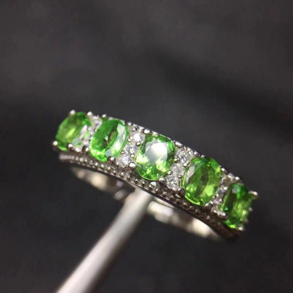 100 natural tsavorite ring round cut tsavorite silver jewelry 925 silver tsavorite ring romantic gift for