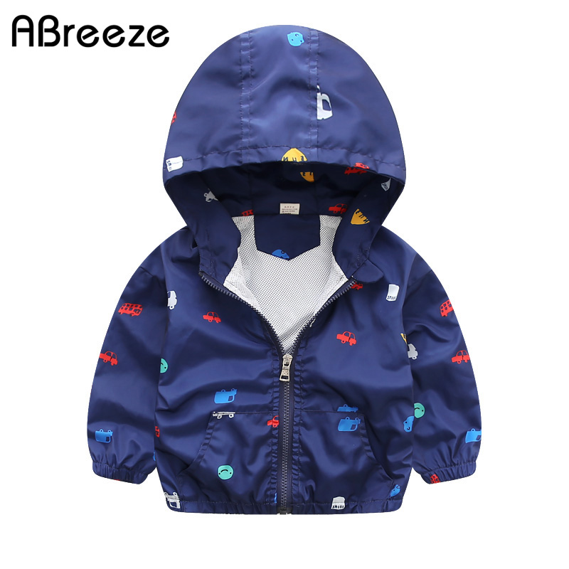 New Summer & autumn children jackets casual hooded kids outerwear/coats 1-7T blue and whith style jackets for boys CQ03(China)