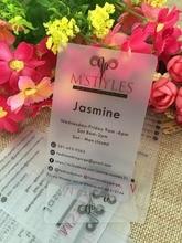 Custom business card printing/ plastic transparent pvc card print/waterproof/ name/visiting card free design