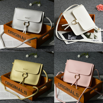 Crossbody Bags For Women Casual Mini Candy Color Messenger Bag For Girls Flap Pu Leather Shoulder Bags 2019 Hot
