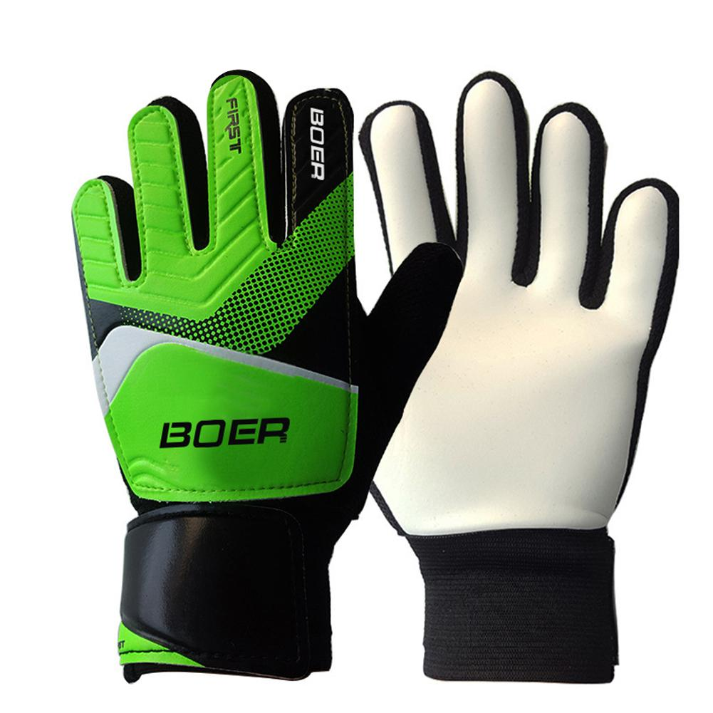 Outdoor Goalie Gloves Rubber Wrist Wrap Soccer Football Gloves Football Apparel Goalkeeper Game Thickener Gloves Anti Slip