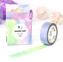1 Pcs Fantasy Decorative Water Color Washi Tape Diy Tape Scrapbooking School Office Supply Stationery Tape