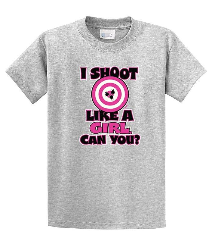2017 New Fashion Brand Clothing customized I Shoot Like a Girl - Target Bullseye - Adult T-Shirt