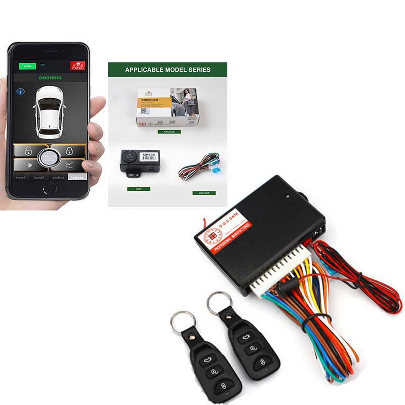 Smartphone Remote Smart Automatic Trunk Opening Car Key Keyless Entry + Controllers Car Alarm Door Remote Central Locking
