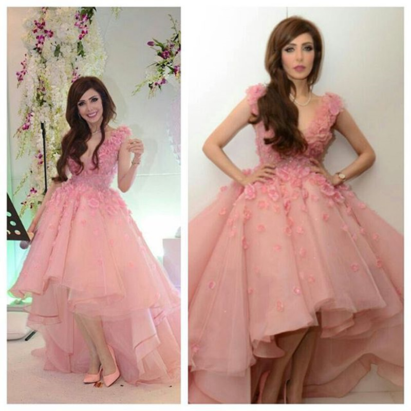 Online Buy Wholesale pink short front long back prom dress from ...