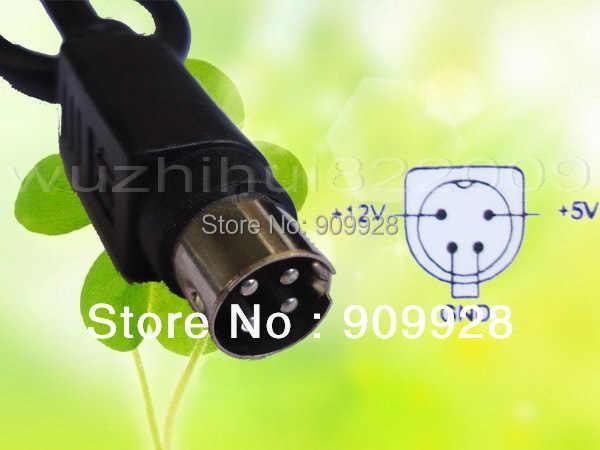100 V-240 V AC ל-dc 12 V/5 V 2A עבור HDD מארז מקרה אספקת חשמל מתאם 4 פינים 2000mA 4PIN