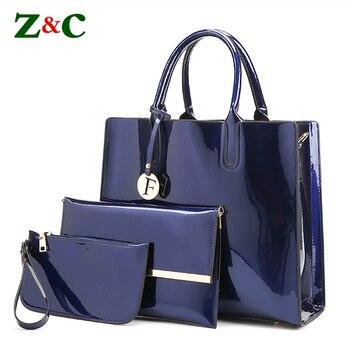 Newest 3pcs/4color Leather Women Handbag Square Shape Bag Large Shoulder Bags Bag Ladies Purse Female Totes Messenger Bags Bolsa shoulder bag