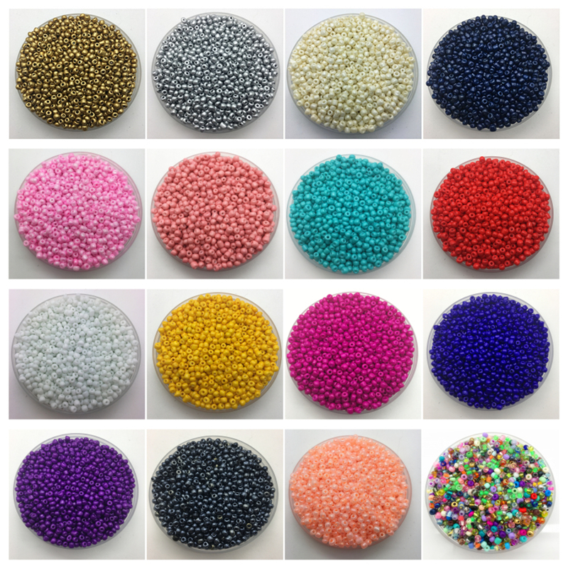 200pcs/lot 4mm Charm Czech Glass Seed Beads Diy Bracelet Necklace For Jewelry Making Accessories