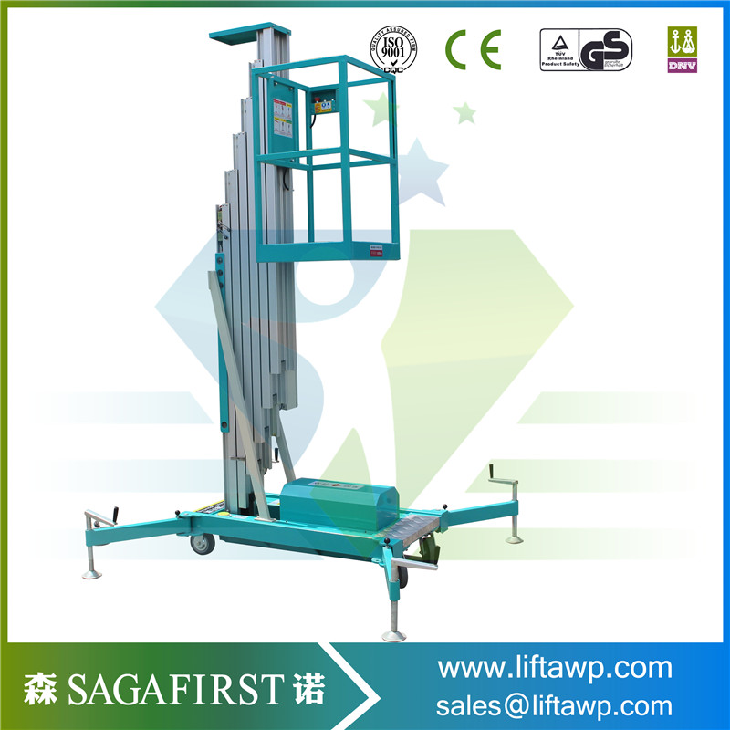 12m One Person Single Mast Aluminum Working Platform