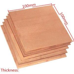 Image 1 - Placa de chapa de cobre de pureza del 99.9%, buen comportamiento mecánico y estabilidad térmica, 100x100x0,8mm, 1 Uds.