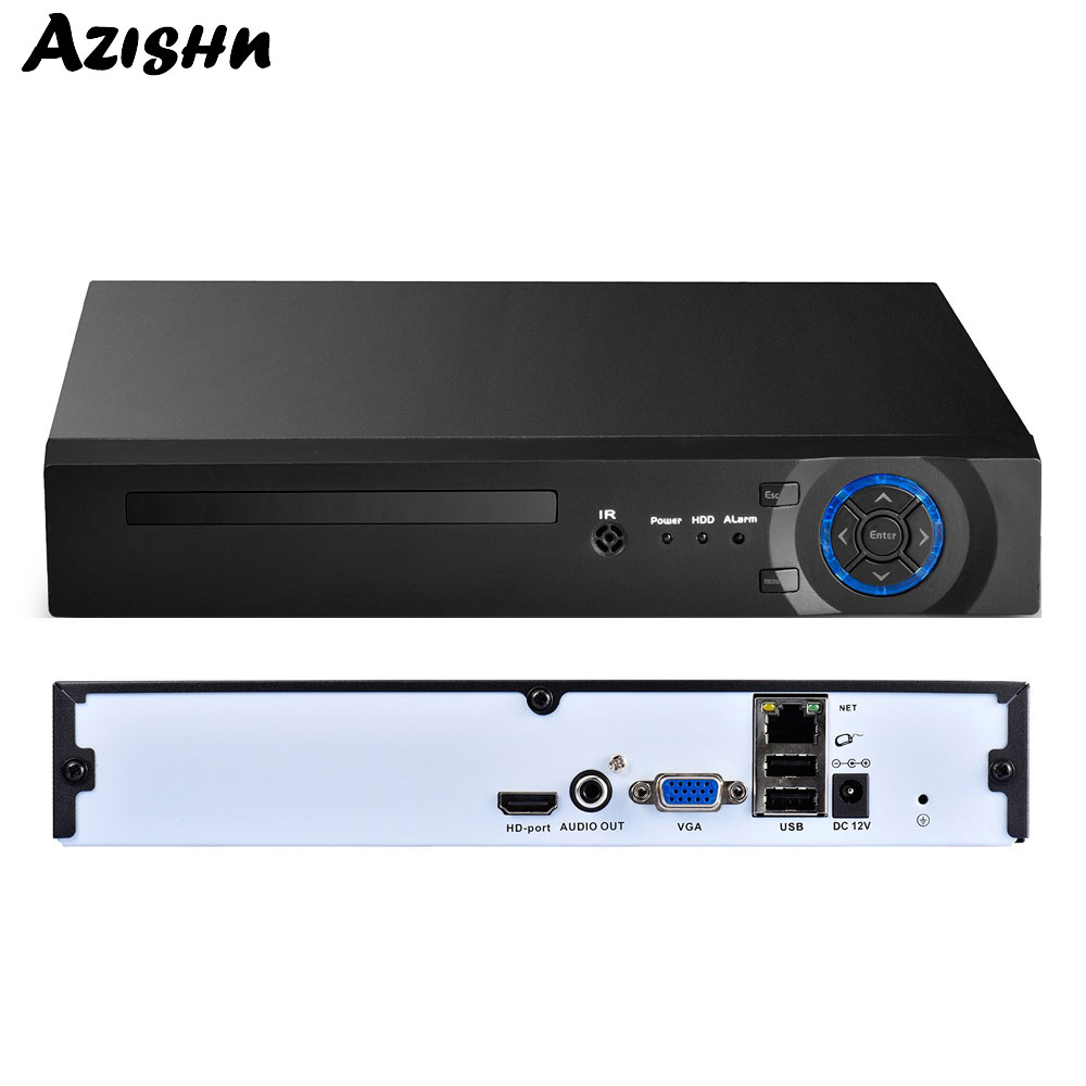 AZISHN 8CH 16CH 32CH H 265 H 264 Security Network Video Recorder Support 4MP 5MP 1080P