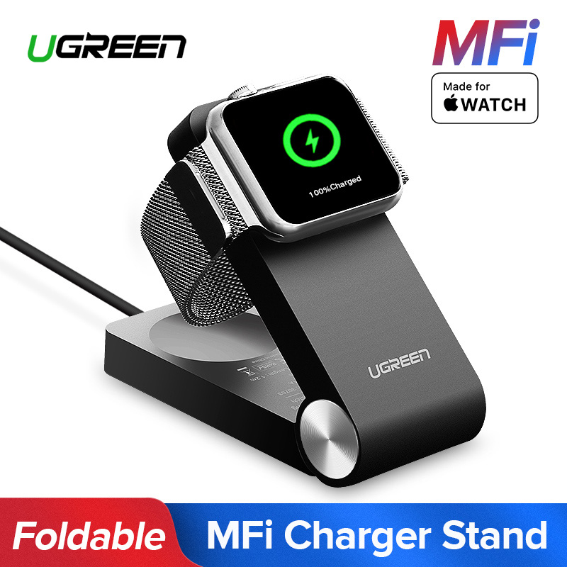 Ugreen inalámbrico cargador para Apple Watch cargador plegable MFi certificado cargador 1,2 m Cable para Apple Watch serie 4/ 3/2/1 cargador
