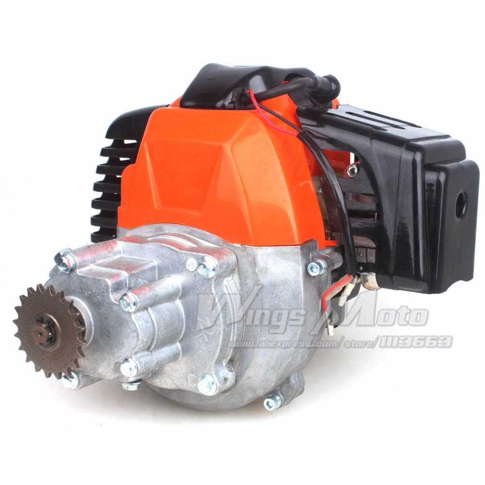 43cc 2-stroke Motor Gas Scooter Engine with Gear Box 20T T8F Sprocket Electric Start Version DIY Engine boat motor t40 05090200 cdi unit for parsun hdx 2 stroke 40cv t40 t40bm t40bw t40g t30bm engine 2 stroke c d i assy g type