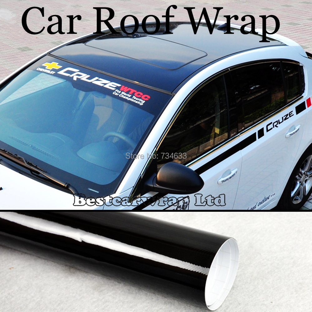 Protwraps 3 Layer Piano Gloss Black Vinyl For Car Roof