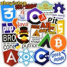 zheyistep 50 Pcs Java Internet JS Php Html Cloud Docker