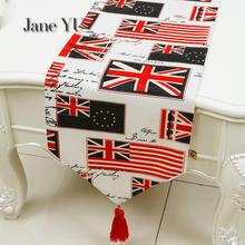 JaneYU British Tablecloth Rice Flag, Table Cloth, American Country Tea Table Cloth, British Flag, Table Towel, Table Flag printio british flag bus