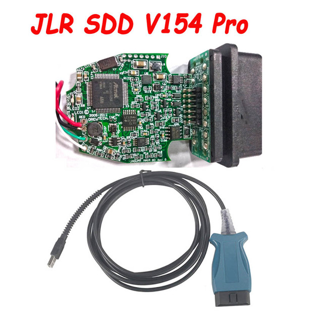 새로운 JLR SDD PRO V154 재규어 및 랜드 로버 2005 2016 년 통해 OBD2 16PIN USB 진단 케이블 지원 ISO9141 자동차