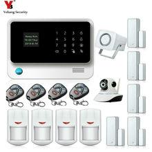 Yobang Security WIFI GSM Alarm Siren Home Security Alarm Systems Kit Remote Control Motion Detector Door Open/Close Sensor