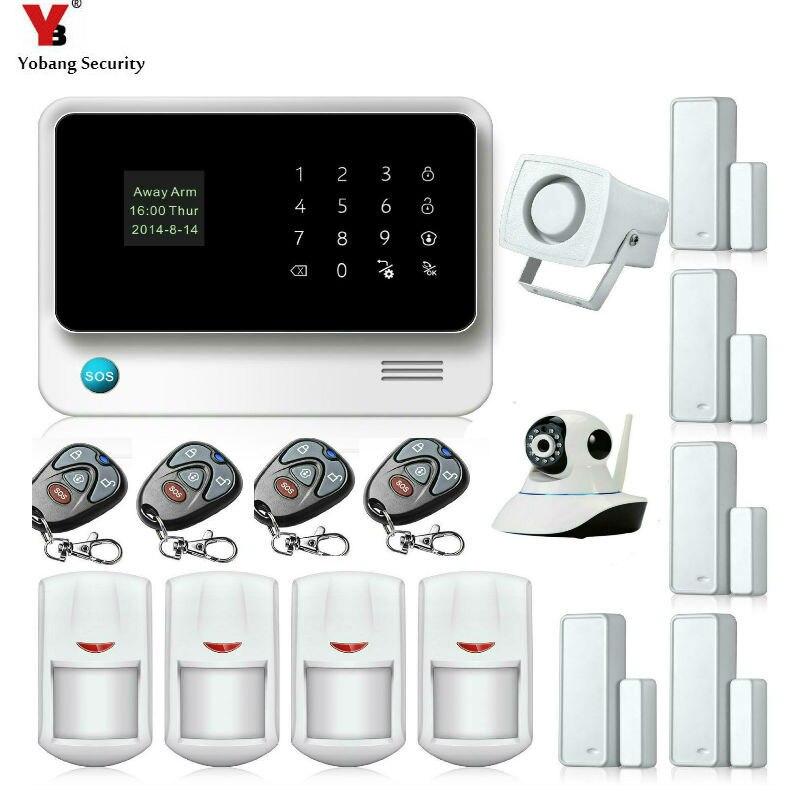 Yobang sécurité WIFI GSM alarme sirène sécurité à domicile systèmes d'alarme Kit télécommande détecteur de mouvement porte ouverte/proche capteur