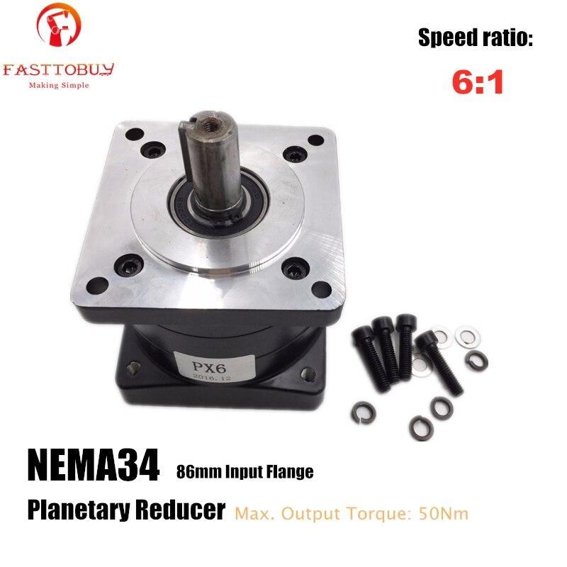 6:1 Rapporto Piccolo Planetario Riduttore Cina Riduttore NEMA34 Motore Passo-passo Riduttore Riduttore di Velocità
