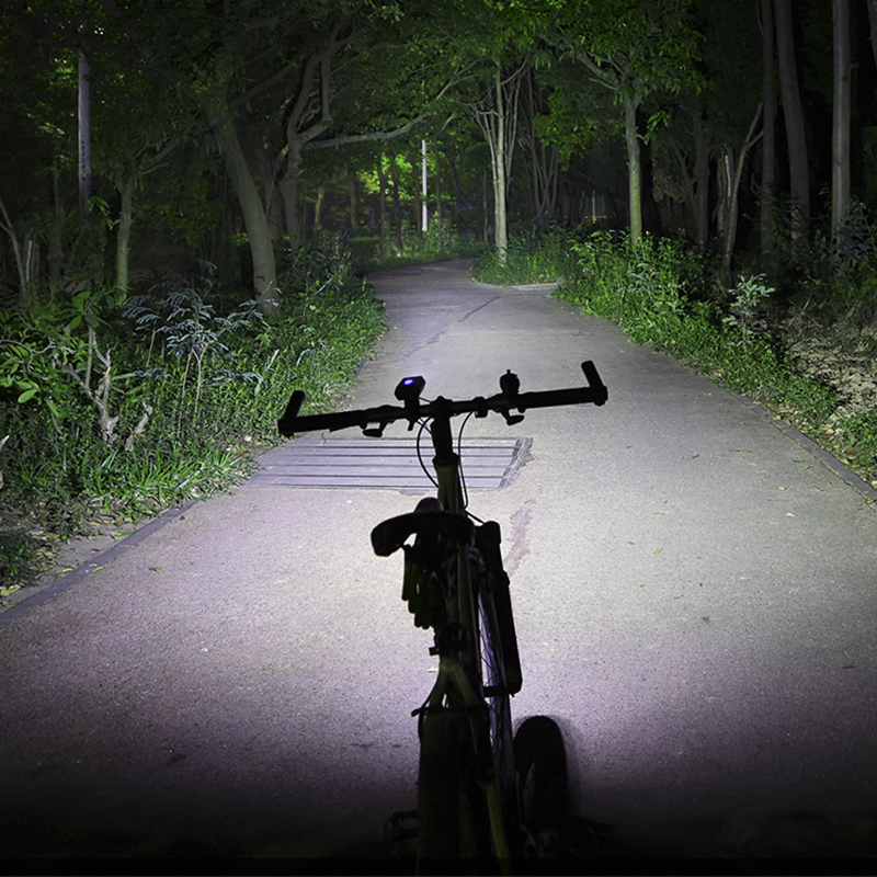 ROCKBROS Bike Light Front 1800Lm 2 Led Bike USB Rechargeable Bicycle Light 5200 MhA Li Battery Cycling Flashlight Power Bank|Bicycle Light| |  - title=