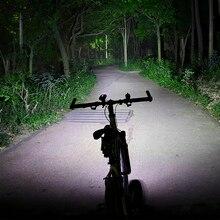 ROCKBROS Bike Light Front 1800Lm 2 Led Bike USB Rechargeable Bicycle Light 5200 MhA Li-Battery Cycling Flashlight Power Bank цена 2017
