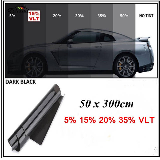 car window solar tint 300cm x 50cm film tinting shade 15 light transmission in front window. Black Bedroom Furniture Sets. Home Design Ideas