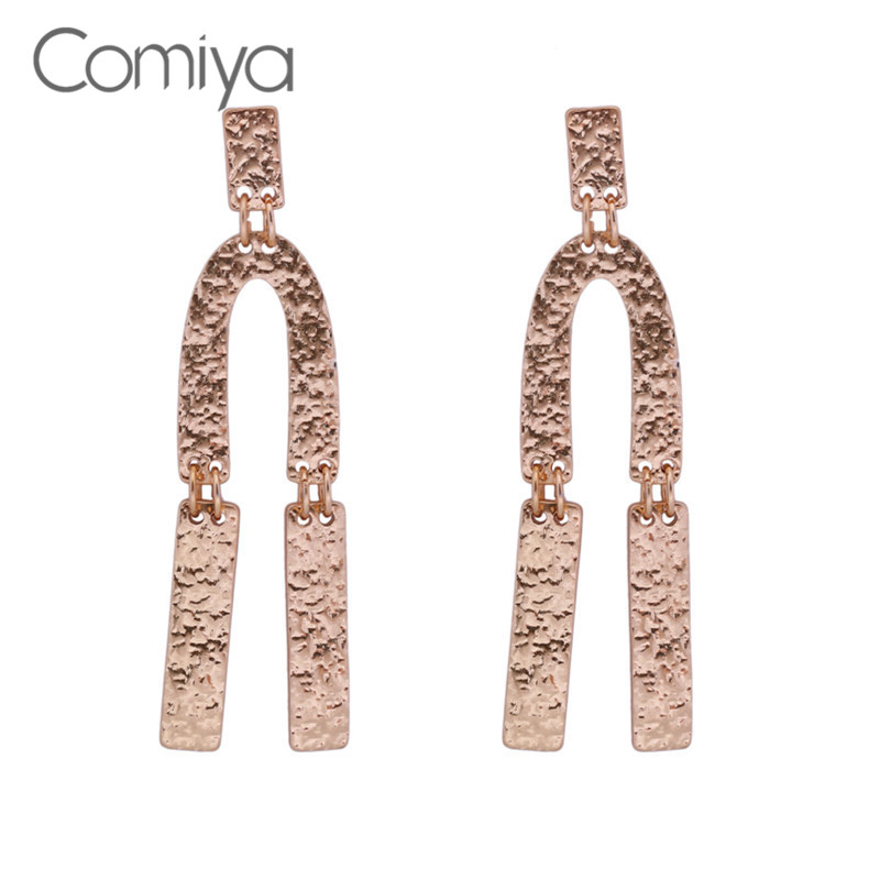 Comiya Fashion New Zinc Alloy Big Earrings Gold Color Online Shopping Indian Orecchini Donna Brinco Feminino Statement Earring