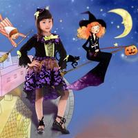 New Girls Dress Witch Dresses Children Sorceress Dresses Rapunzel Aurora Kids Party Halloween Costume Clothes A3