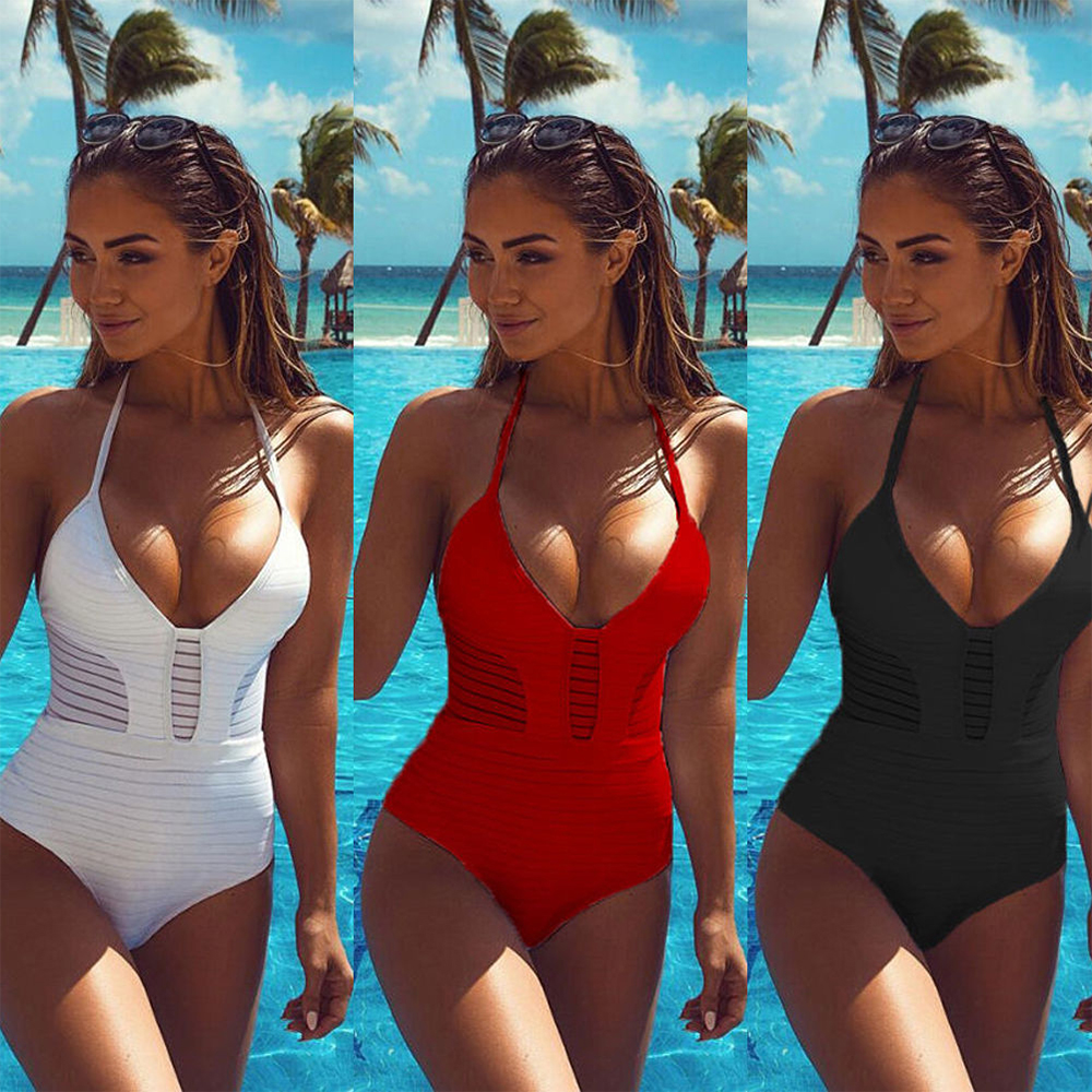 2017 sexy women one piece swimwear women swimsuit bandage bikini monokini bathing suit bather maillot de bain black red white tank heart new black white print bikini set women sexy bandage bathing suit halter lace swimsuit swimwear solid beachwear