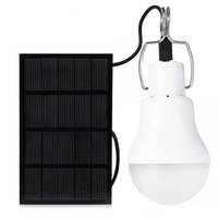 1 5W 130lm Solar Powered LED Bulb Light For Commercial Lighting Home Lighting Horticultural Illumination Outdoor
