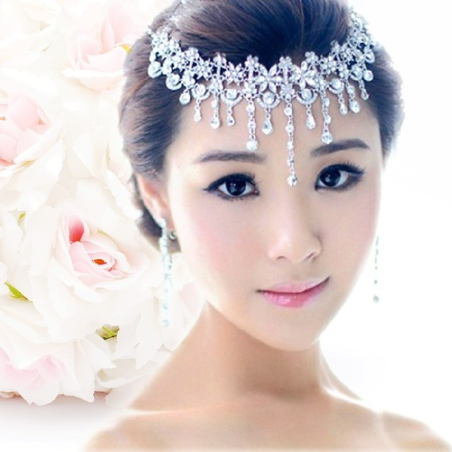 2016 hot  wedding forehead jewelery rhinestone bandage on his head bridal headdress crown tiaras and hair accessories head