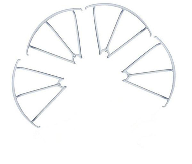 8Pcs/2Set MJX X400 Four-axis Aircraft Protection Ring Protection White/Black Frame for RC Model