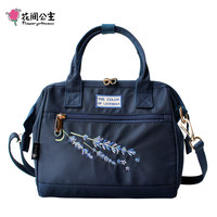 Flower Princess Fashion Women Handbag Nylon Embroidery Crossbody Bags for Women Shoulder Messenger Bags Girls Ladies Hand Bags