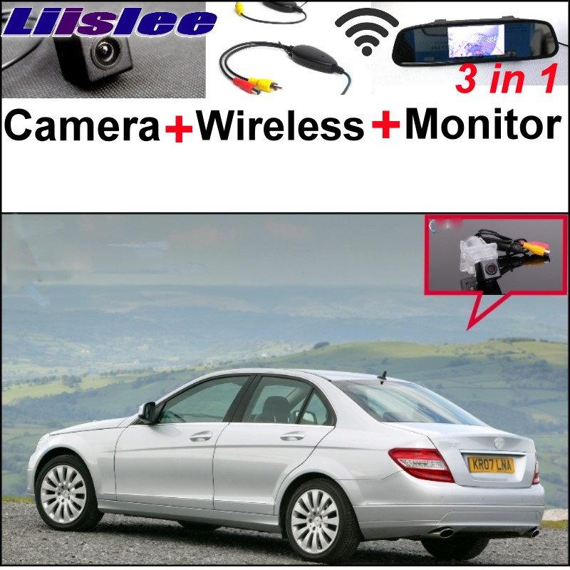 Liislee 3в1 специальная камера + беспроводной приемник + зеркало экрана Паркуя систему для Benz C280 МБ С180 С200 С300 С350 С63