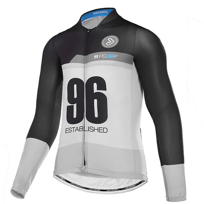 Jakroo TITAN Competitive Medel Men's Full Sleeve Cycling Jersey Sun-block Breathable Anti-bacteria Carbon Fiber Cycling Clothing