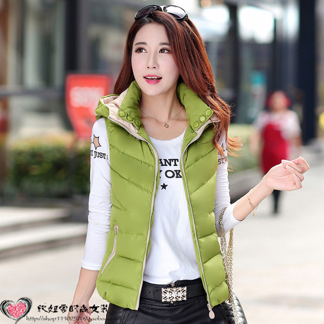 Cheap new autumn and winter Ms. Korean cotton vest short paragraph Slim down cotton waistcoat thick cotton shipping