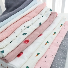 100x100cm baby blanket 2 layers kids bedding bath towel new design carrot cactus pattern newborn swaddle