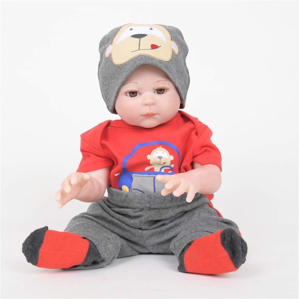 все цены на 50cm Lifelike Newborn Baby Soft Full Silicone Lovely Reborn Doll Toy for Kids Birthday Christmas Gift